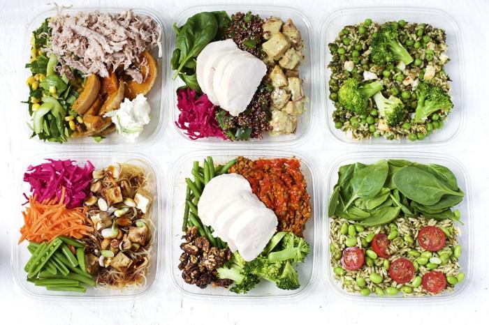 manger équilibré, recette facile, boîte de déjeuner sain, légumes, fromage, tomates, manger sainement