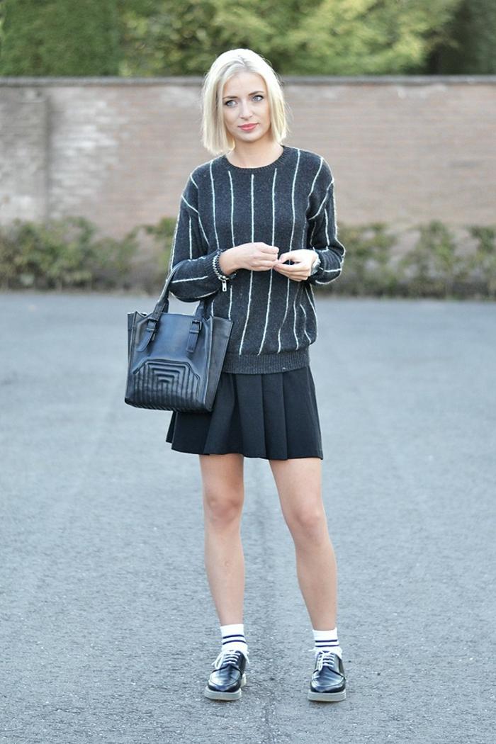 Style etudiant tenue cool et classe college filles idée