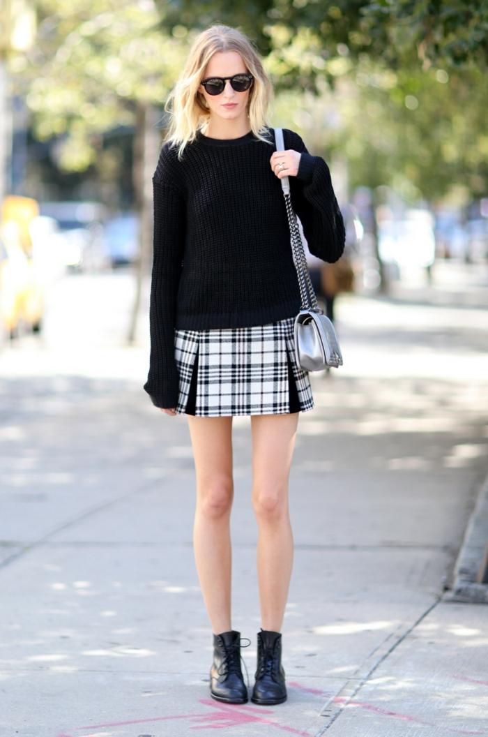 Cool idée comment s habiller pour la rentrée beauté tenue blanc et noir