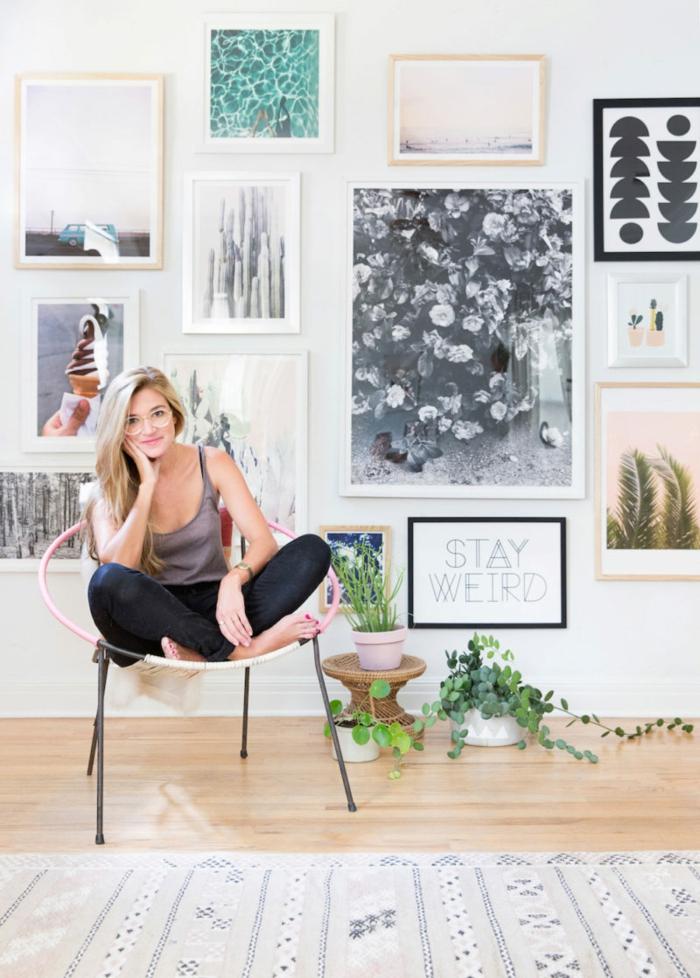 comment organiser une galerie photos personnalisé, poster pas cher imprimé pour un mur en cadres original et artistique