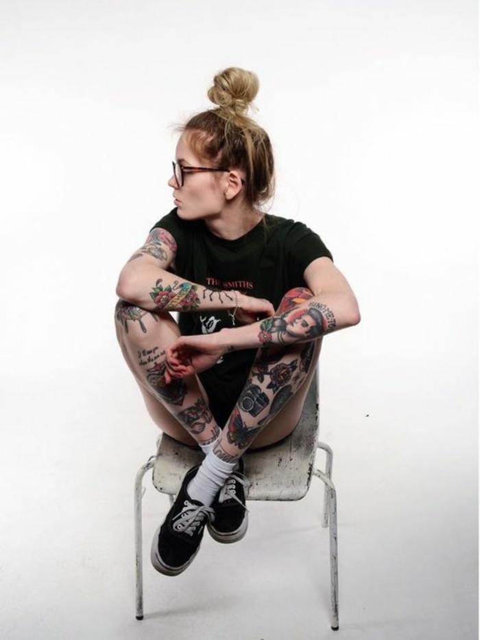 Dessin de tatouage pour femme modele de tatouage femme tatoué entierement
