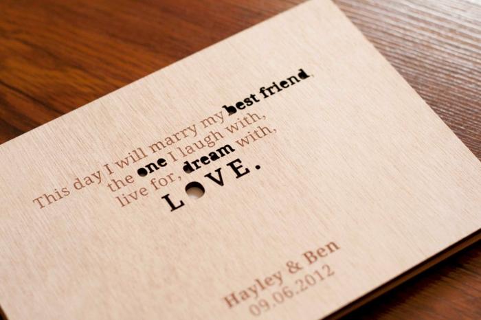 Livre d'or original mariage déco diy chouette idée faire soi meme bois couverture