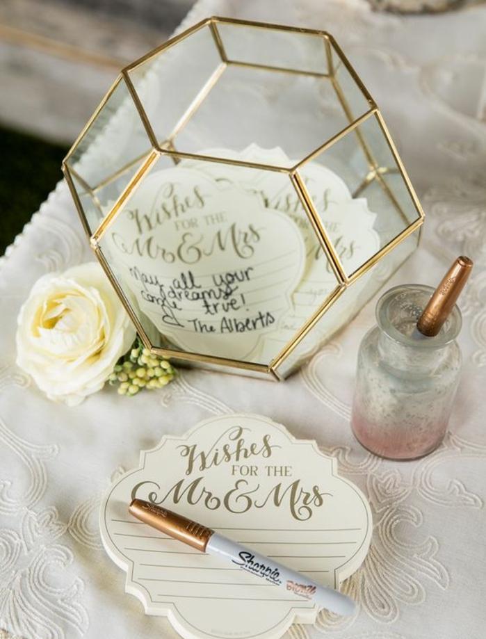 Magnifique livre d or personnalisé livre d or original mariage vase diamant