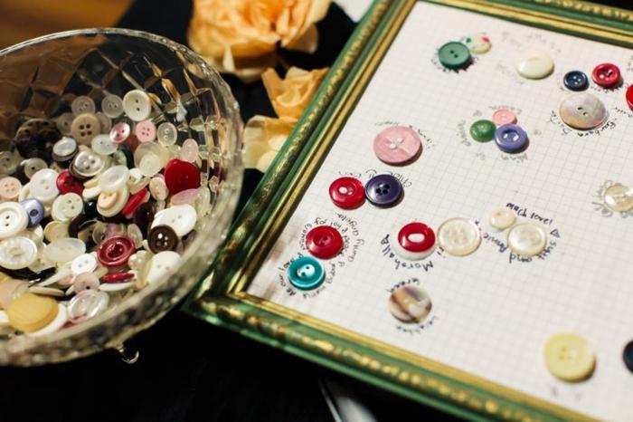 Formfable livre photo mariage original livre d or personnalisable boutons colorés