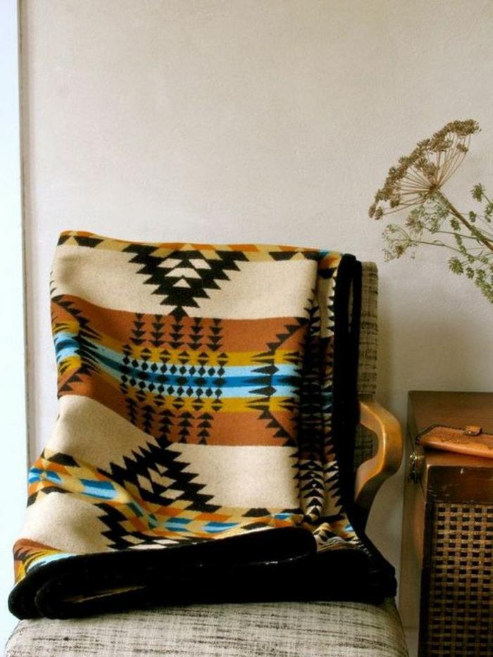 tapis style ethnique, figures géomériques en différentes couleurs