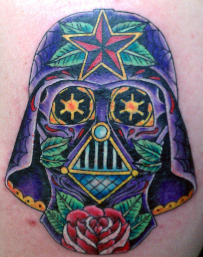 tatouage de tete de mort tattoo fete des morts dark vador darth
