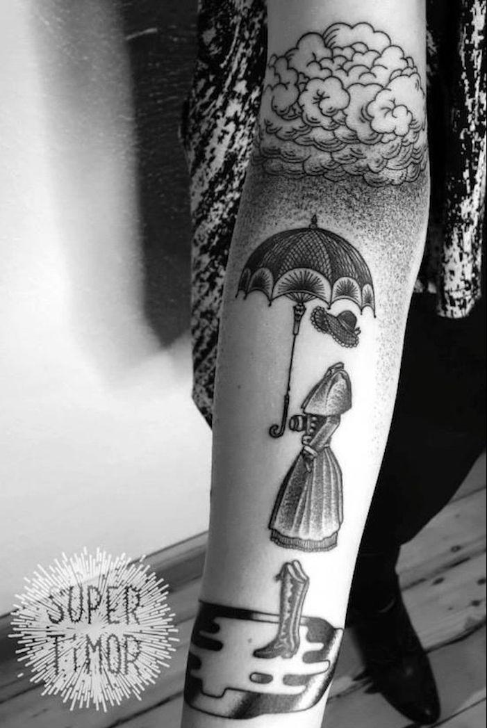 tatouage demi manchette femme les plus beaux tatouages homme tattoo de nuage paysage femme fantome poesie