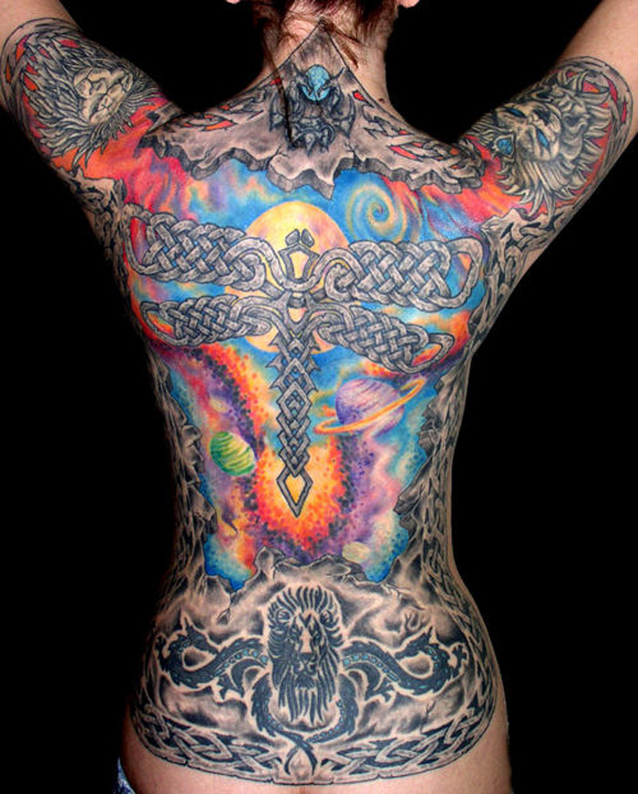 ▷ 1001+ idées | tatouage dos – ce tattoo que je ne saurais voir