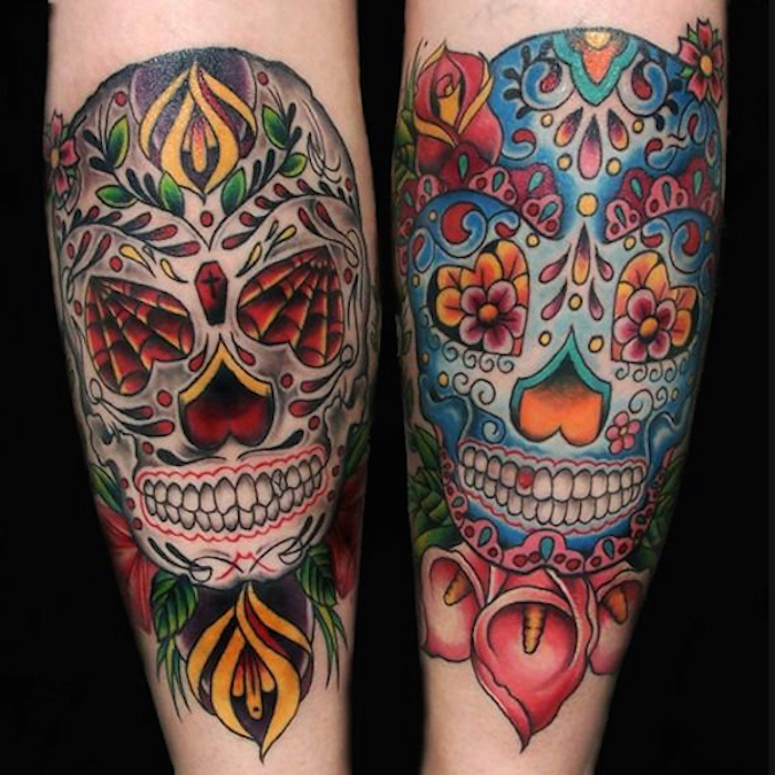 tatouage squelette mexicain tattoo catch mexique mexico tete de mort