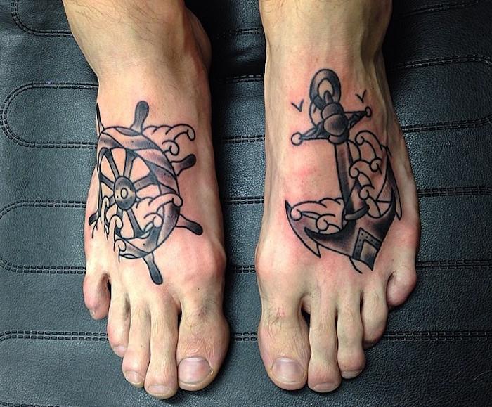 ▷ 1001+ idées | tatouage pied – il marche discrètement