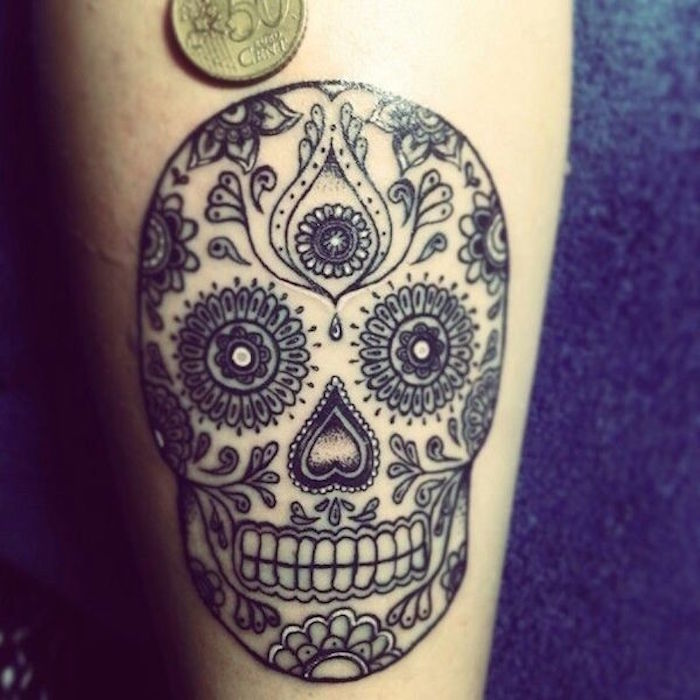 tattoo tete de mort mexicaine signification tatouage mexicain