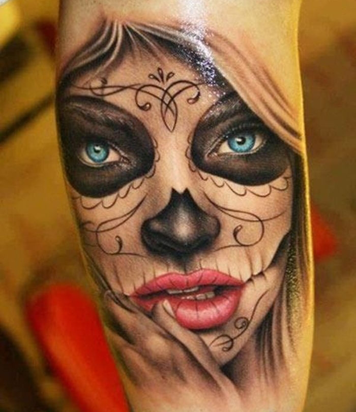 tattoo femme mexique tatouage mexicain fete morts