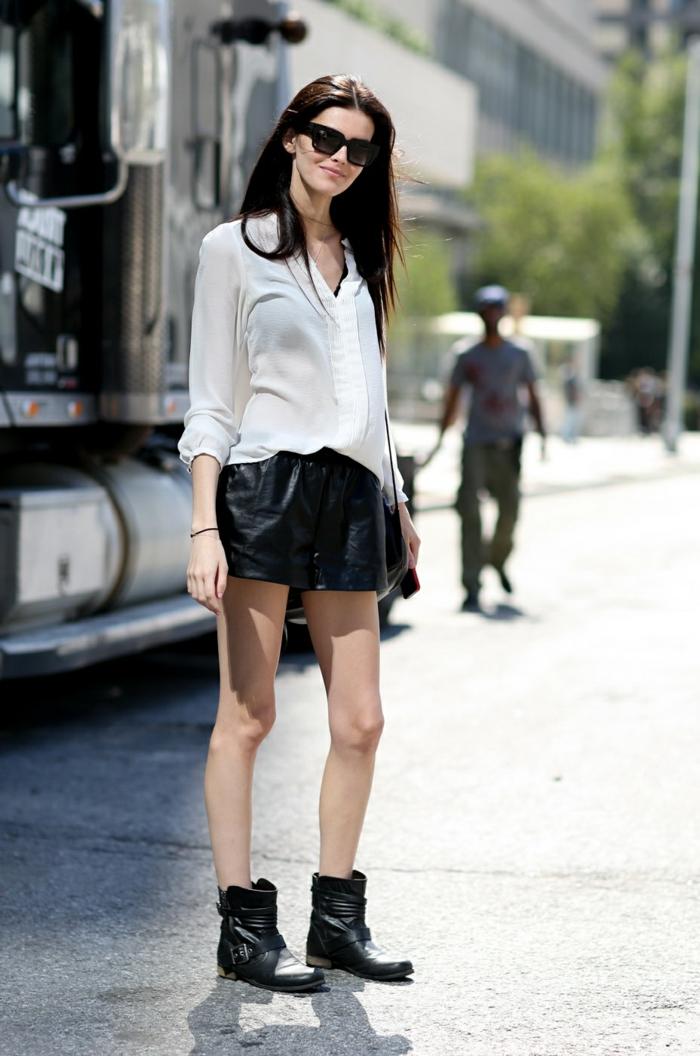 Adorable idée tenue pour la rentrée tenue rentrée noir et blanc