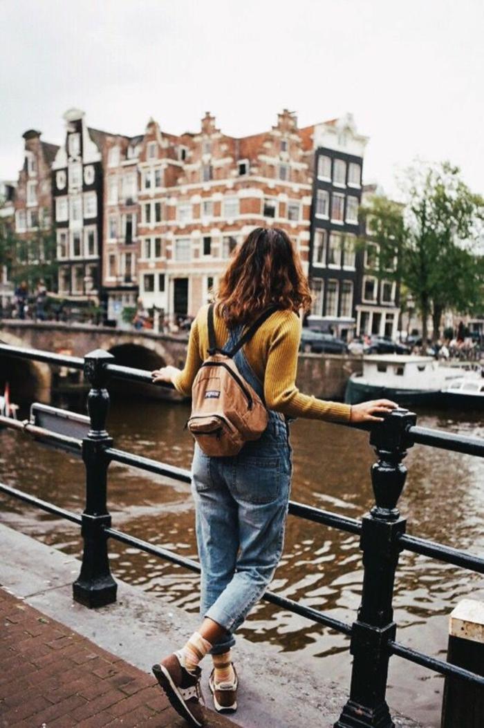 Ootd comment mettre une salopette taille haute salopet Amsterdam