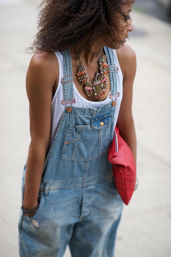 Formidable tenue salopette en jean salopette short femme