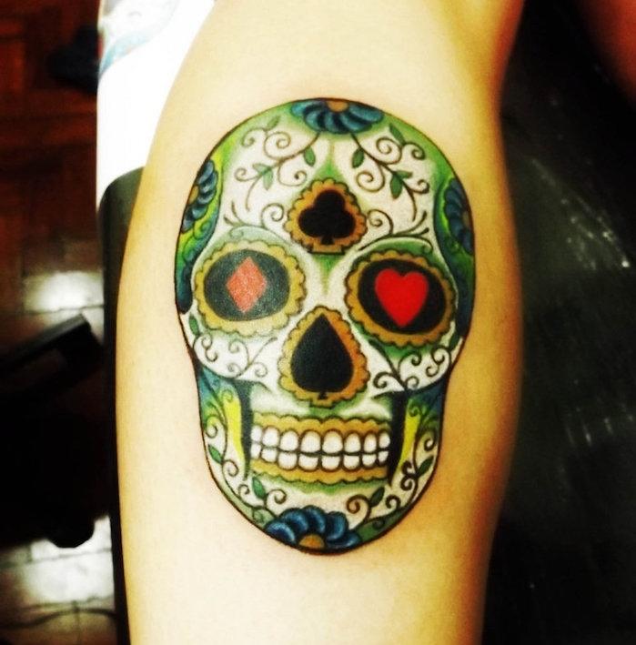 1001 Idees Tatouage Tete De Mort Mexicaine Qui Vivra Calavera