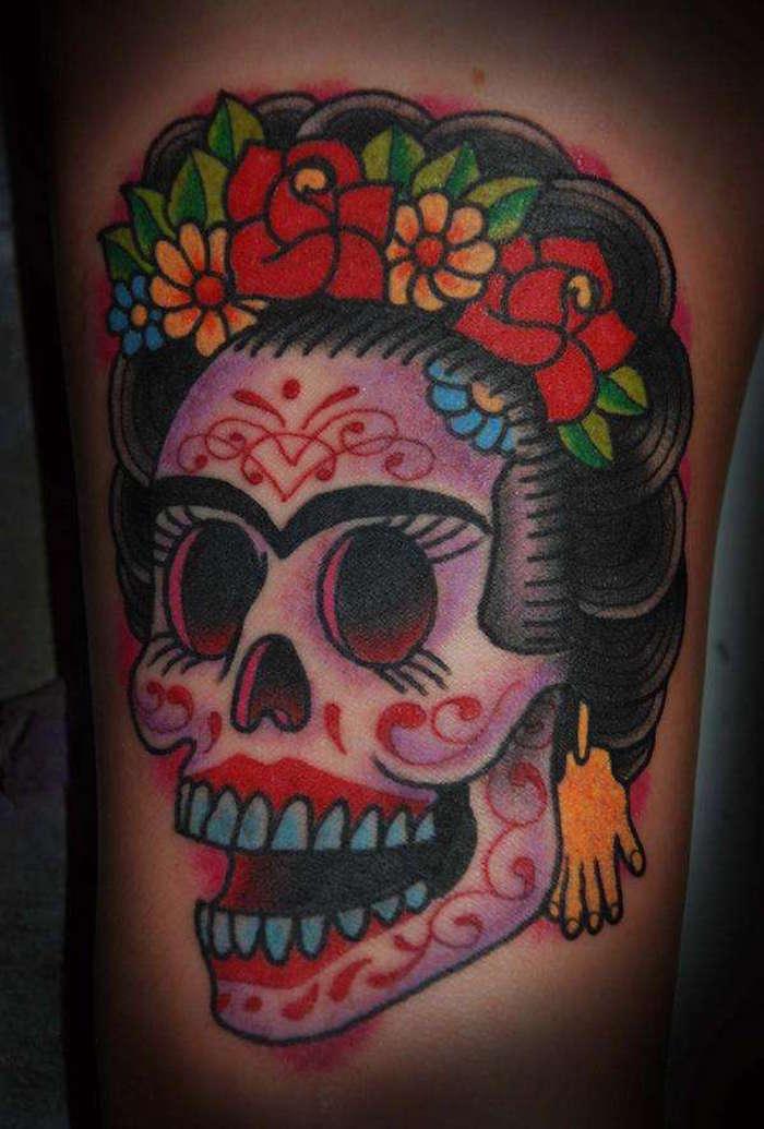 1001 id es tatouage t te de mort mexicaine qui vivra. Black Bedroom Furniture Sets. Home Design Ideas