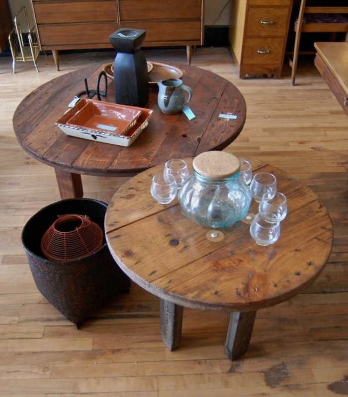1001 id es astuces brico pour cr er une table en touret. Black Bedroom Furniture Sets. Home Design Ideas