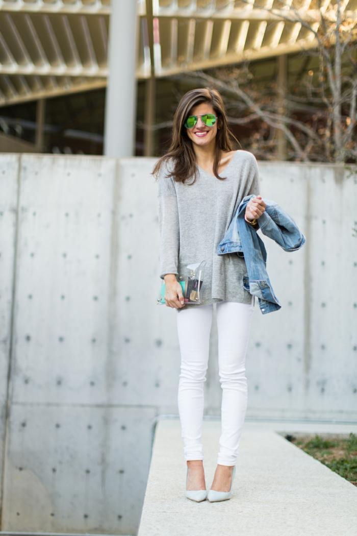 11d5bb5252815 ▷ 1001 + idées pour une tenue avec pantalon blanc fantastique