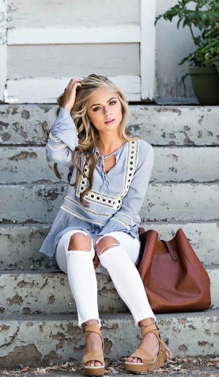 Veste en jean femme classe