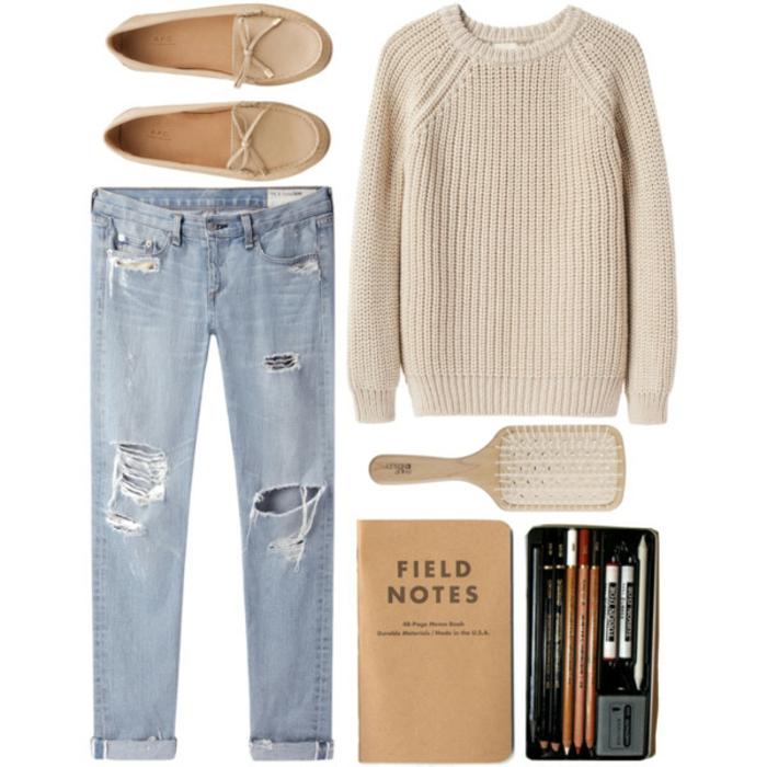 Jolie tenue idée tenue de tous les jours cool tenue blanc