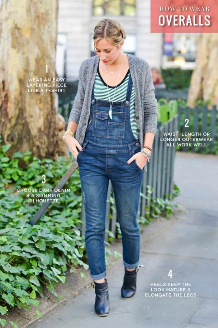 Tenue salopette en jean femme salopette habillée tenue de jour