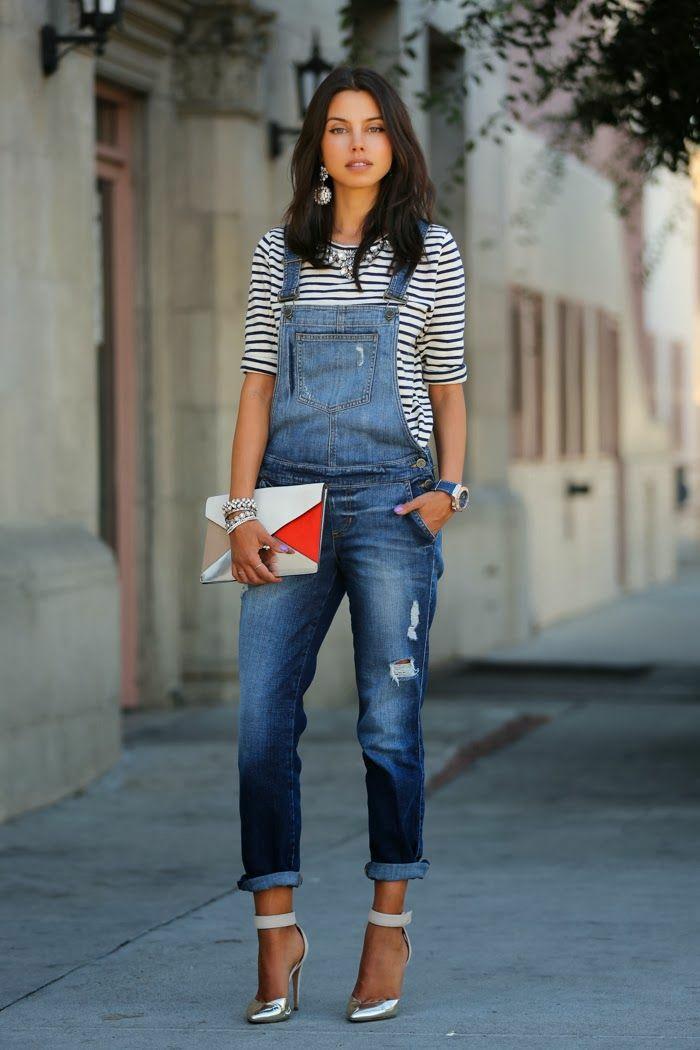 Cool idée tenue salopette femme salopette jean tendance sandales talon