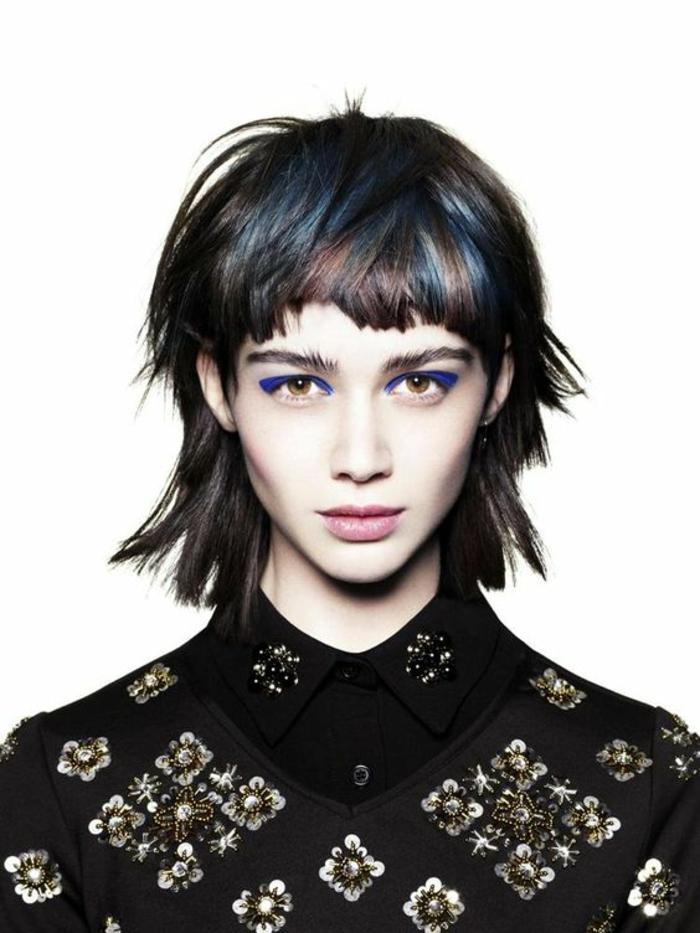 coupe asymétrique en nuances colorées carre degrade coiffure 2017