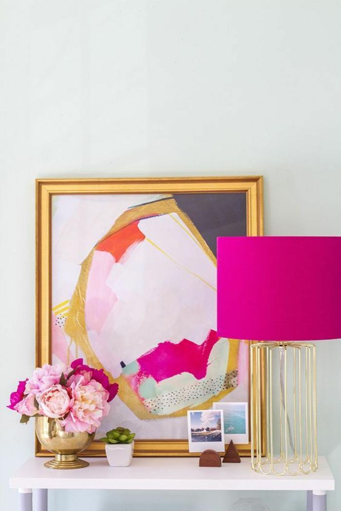 fuschia entree decoree en couleur attrayante belle combinaison avec le blanc