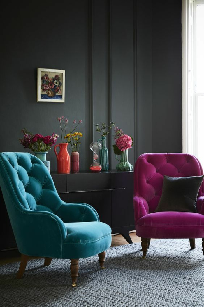 1001 id es pour am nager en fuchsia couleur des int rieurs attrayants. Black Bedroom Furniture Sets. Home Design Ideas