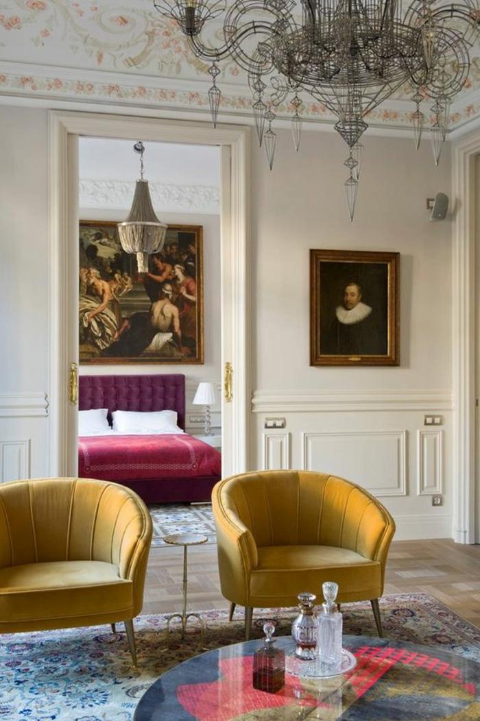 1001 id es comment combiner la couleur aubergine - Charmant appartement lumineux touches couleurs ...