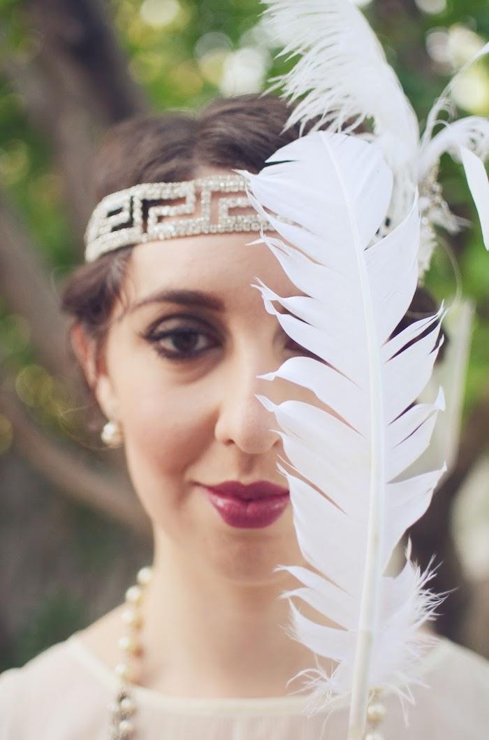 bijoux cheveux marriage, couleur de cheveux marron, coiffure mariage cheveux courts