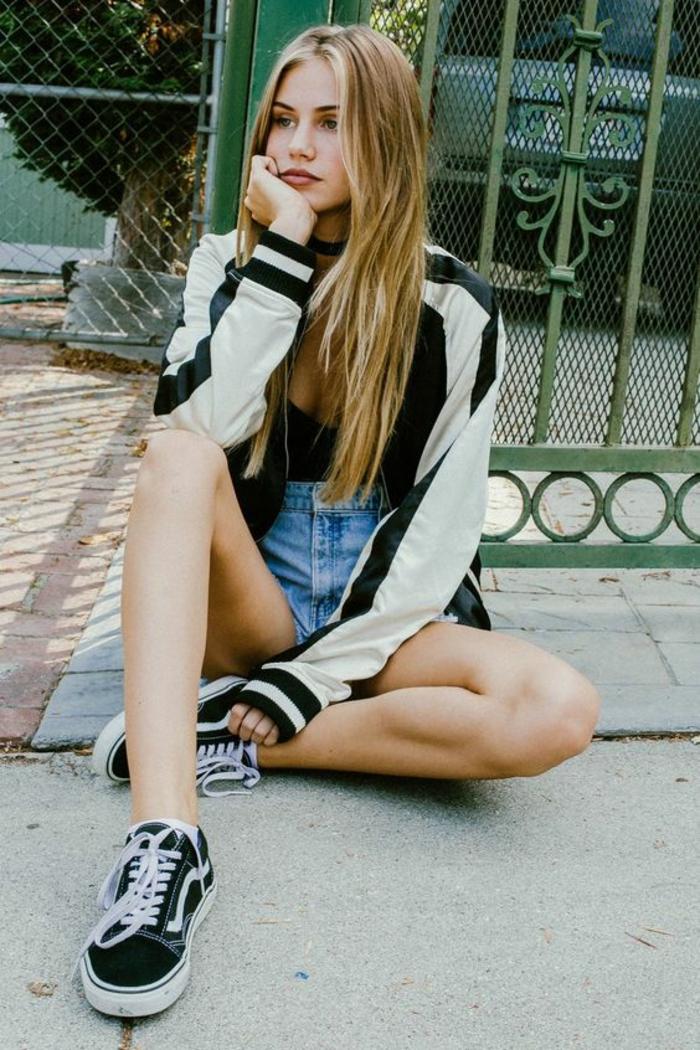Belle tenue fille de 14 ans swag tenue sport tenu femme tenu classe vans noirs