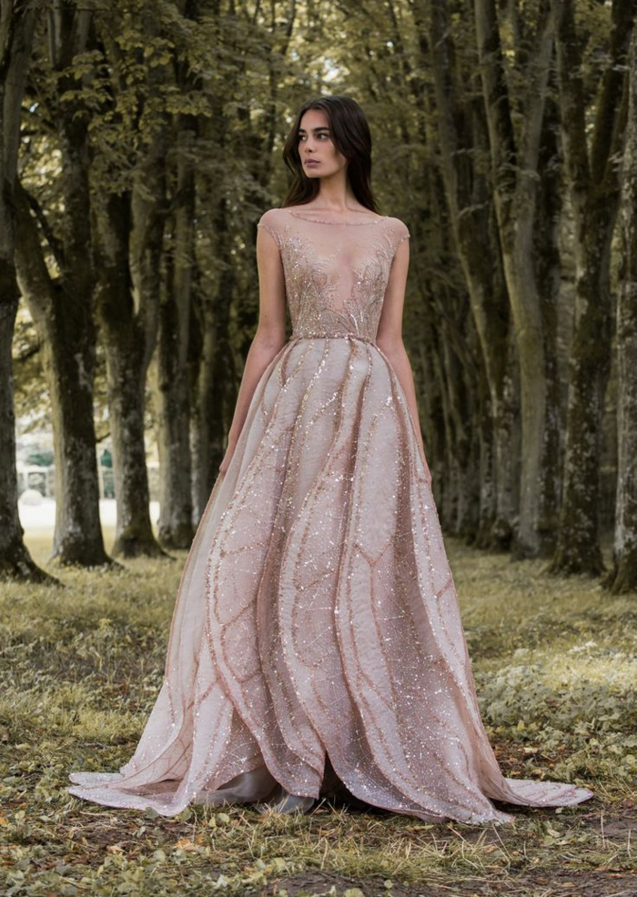 Chic robe de mariée dentelle idée quelle robe mariée dentelle robe princesse rose pale longue robe de mariée