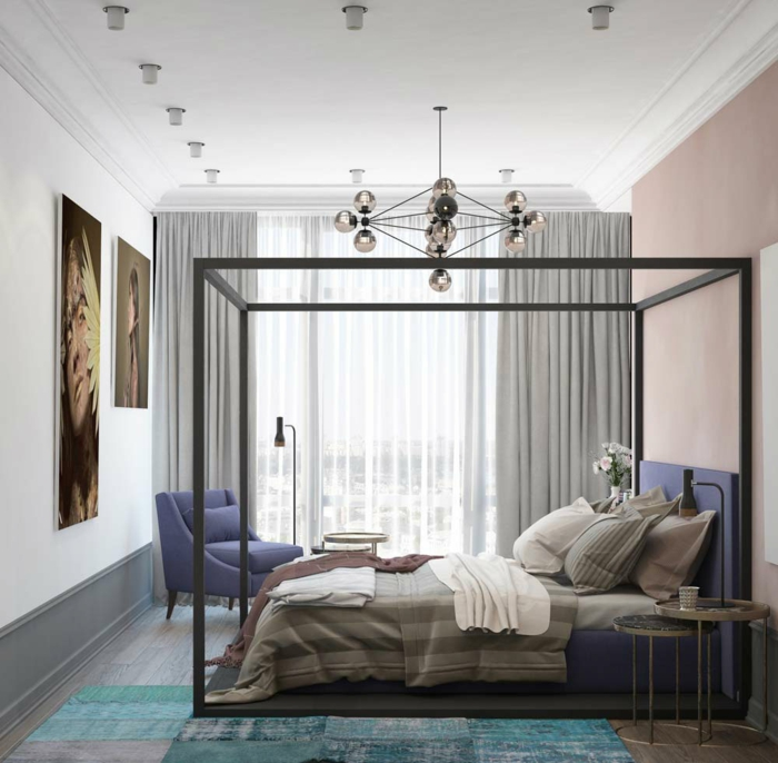 dco chambre violet gris deco peinture chambre idee. Black Bedroom Furniture Sets. Home Design Ideas