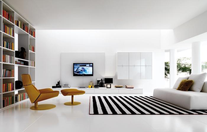 idée aménagement et deco de salon design minimaliste