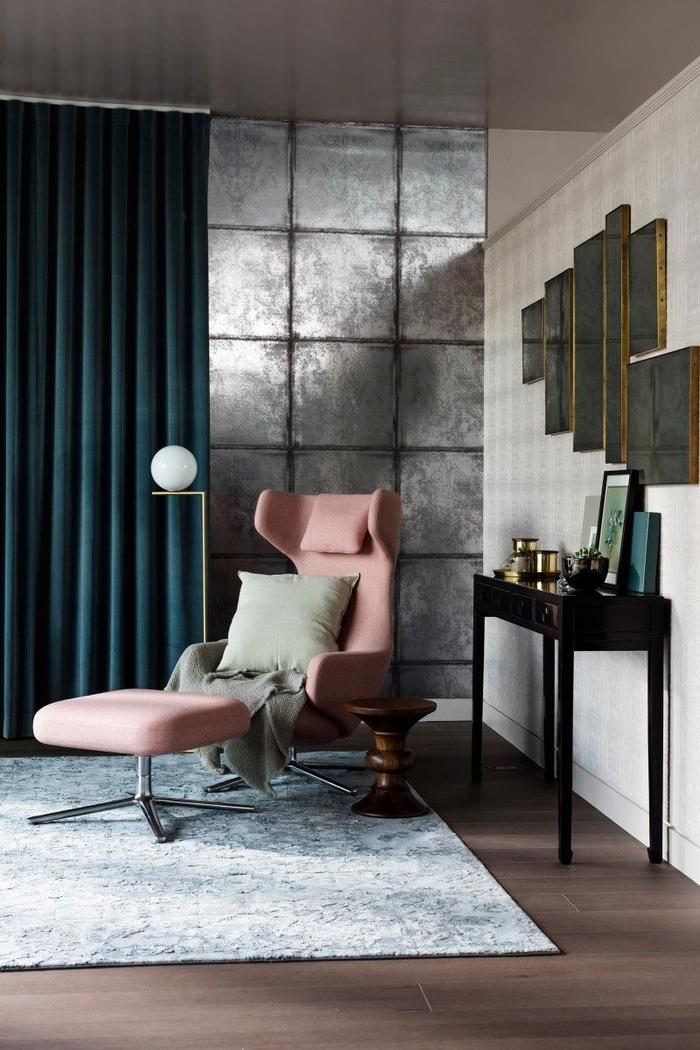 comment adopter le vert canard dans un intérieur contemporain raffiné, des rideaux vert canard pour un aspect de luxe