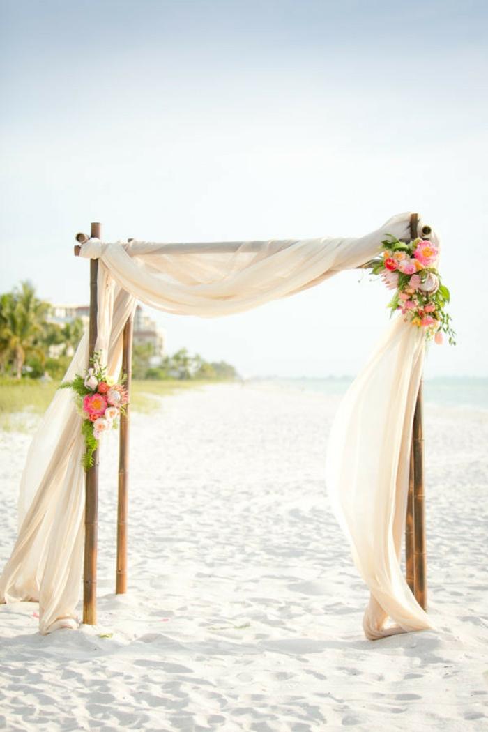 Comment faire une arche pour mariage deco fleurs mariage arche au bord de la mer