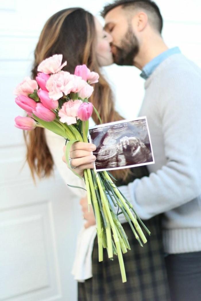 Image c est une fille echographie fille ou garcon image savoir et annoncer le sexe fleurs roses