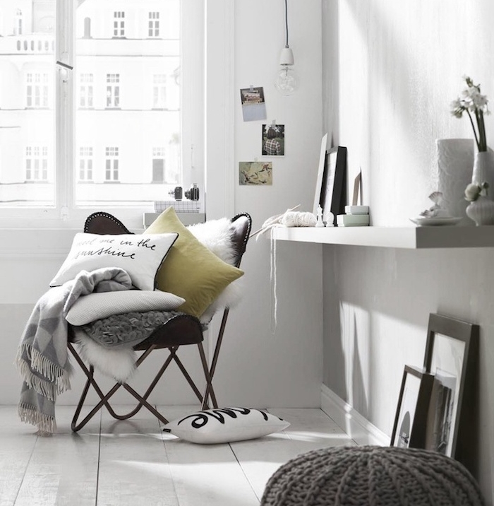 1001 photos et conseils d 39 am nagement d 39 un salon scandinave. Black Bedroom Furniture Sets. Home Design Ideas