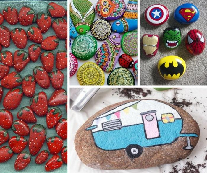 idées originales pour un bricolage enfant avec galets