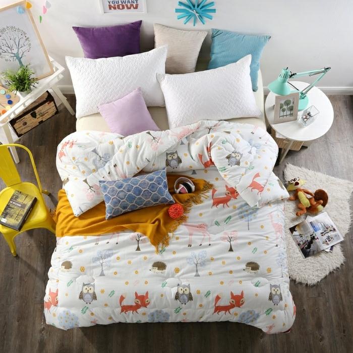 Idée chambre grise papier peint chambre adulte décoration couleurs chambre enfant jolie