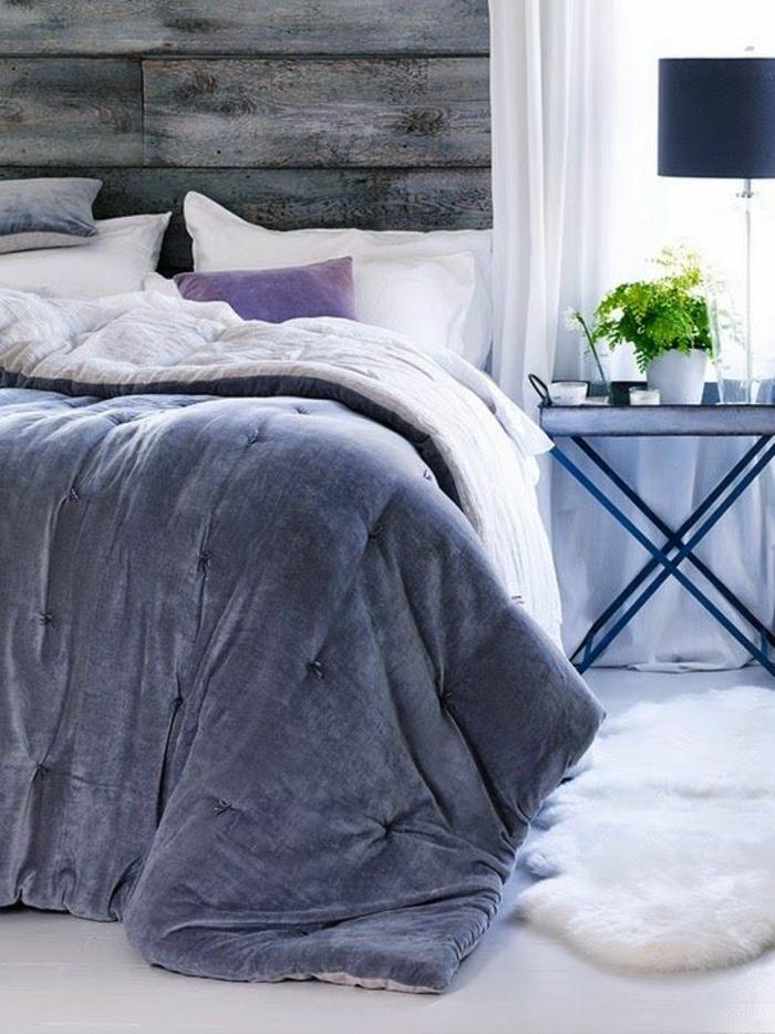 Couleur mur chambre chambre violette et grise couleurs chambre déco tapis shaggy
