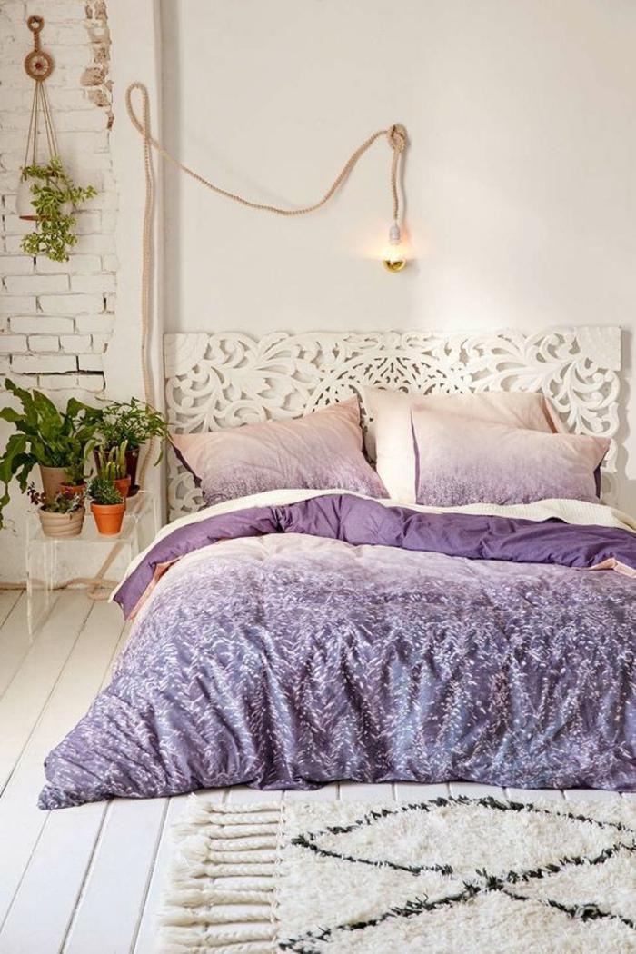 1001 id es pour la d coration d 39 une chambre gris et violet - Chambre a coucher mauve et gris ...