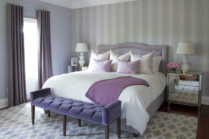 Association couleur violet et gris déco chambre gris et violet décor beau