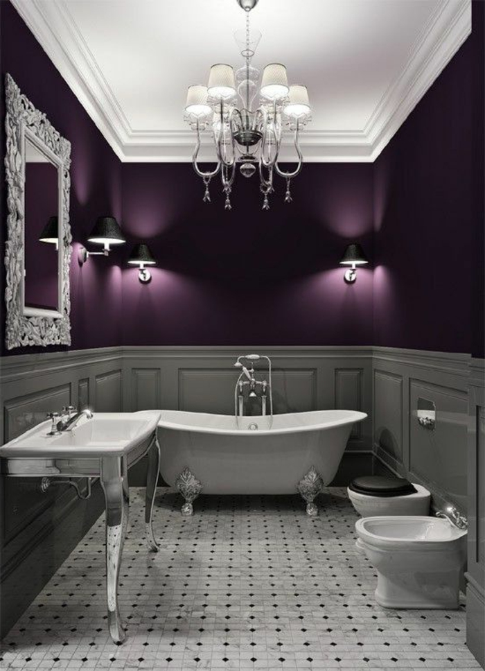 1001 id es comment combiner la couleur aubergine. Black Bedroom Furniture Sets. Home Design Ideas
