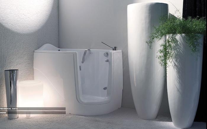 mini baignoire d angle acrylique blanche design pratique accessible