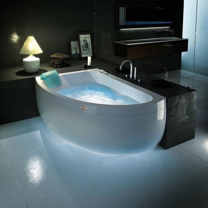 baignoire d angle pas cher demi lune jacuzzi salle de bain design