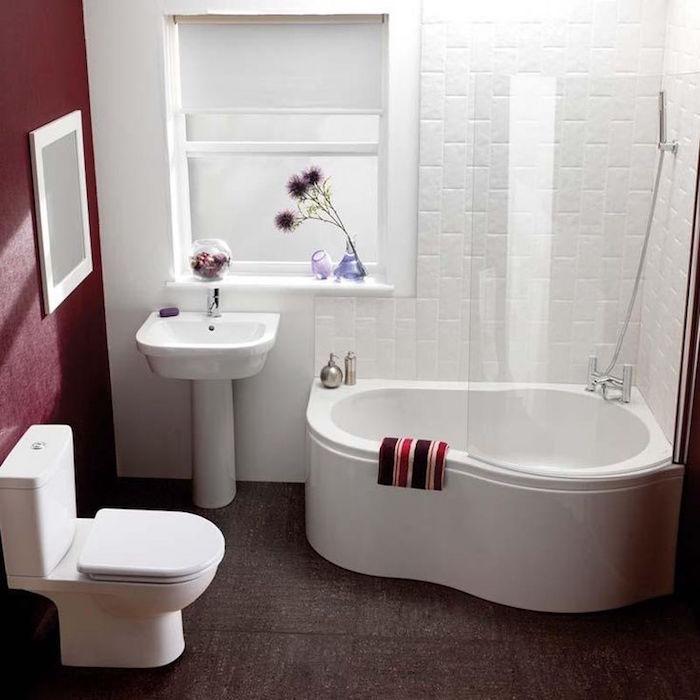 petite taille baignoire d angle salle bain carrée