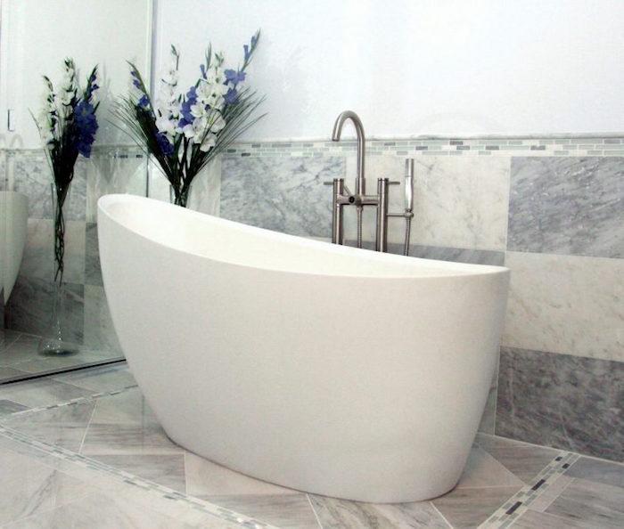 baignoire sabot blanche en acrylique petites dimensions